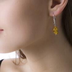 Boucles D'oreilles Pendantes Ilena Argent Blanc Ambre - Boucles d'oreilles Pendantes Femme | Marc Orian