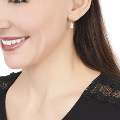 Boucles D'oreilles Pendantes Taissia Or Jaune Perle De Culture - Boucles d'oreilles Pendantes Femme | Marc Orian