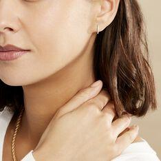 Créoles Aryanna Rondes Or Blanc Diamant - Boucles d'oreilles Créoles Femme | Marc Orian