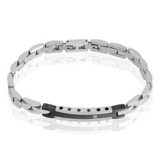 Bracelet Perceval Acier Bicolore Oxyde De Zirconium - Gourmettes Homme | Marc Orian