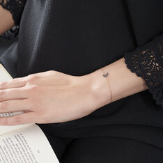 Bracelet Or Rose Anne-marie Diamant - Bracelets chaînes Femme | Marc Orian