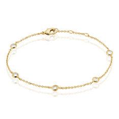Bracelet Violette Plaque Or Jaune Oxyde De Zirconium - Bracelets chaînes Femme | Marc Orian