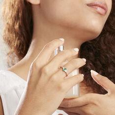 Solitaire Or Jaune Ludmilla Emeraude Diamant - Bagues Femme   Marc Orian