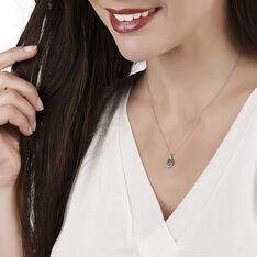 Collier Angelika Or Blanc Emeraude Et Diamant - Colliers Femme | Marc Orian