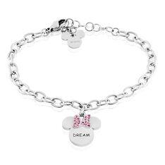 Bracelet Disney Acier Blanc Cristaux - Bracelets chaînes Enfant | Marc Orian