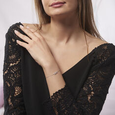 Bracelet Argent Rhodie Infini Oxyde - Bracelets chaînes Femme | Marc Orian