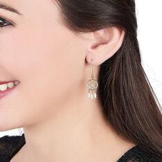 Boucles D'oreilles Pendantes Attrape Reves Plaque Or Pierre - Boucles d'oreilles Pendantes Femme | Marc Orian