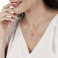 Collier Yrene Or Blanc Topaze - Colliers Femme   Marc Orian