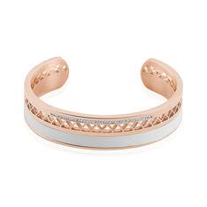 Bracelet Jonc Imagine Victoriano Acier Rose Strass - Bracelets jonc Femme | Marc Orian