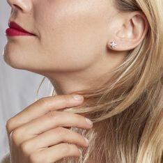 Boucles D'oreilles Puces Shanis Argent Blanc Oxyde De Zirconium - Clous d'oreilles Femme   Marc Orian