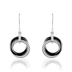 Boucles D'oreilles Pendantes Tania Argent Céramique Et Oxyde - Boucles d'oreilles Pendantes Femme | Marc Orian