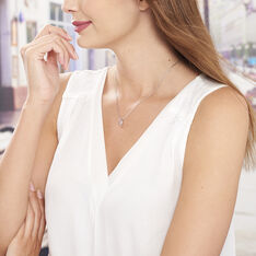 Collier Arianna Argent Blanc Oxyde De Zirconium - Colliers Femme | Marc Orian