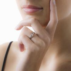 Solitaire Or Blanc Elisa Diamants - Bagues Solitaire Femme   Marc Orian