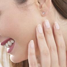 Boucles D'oreilles Puces Dimitra Or Blanc Diamant - Clous d'oreilles Femme | Marc Orian