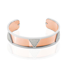 Bracelet Jonc Andrina Acier Blanc - Bracelets jonc Femme | Marc Orian