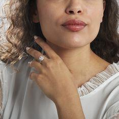 Bague Solitaire Argent Rhodié Blanc Oxyde De Zirconium - Bagues Solitaire Femme | Marc Orian