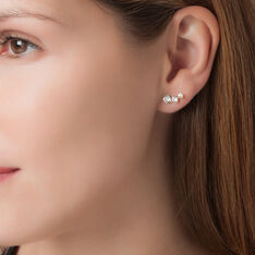 Bijoux D'oreilles Raffaele Or Jaune Oxyde De Zirconium - Boucles d'oreilles Ear cuffs Femme | Marc Orian