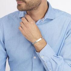 Bracelet Identité Casper Maille Gourmette Argent Blanc - Gourmettes Homme | Marc Orian