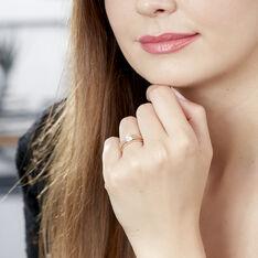 Bague Achila Or Jaune Oxyde De Zirconium - Bagues Solitaire Femme | Marc Orian
