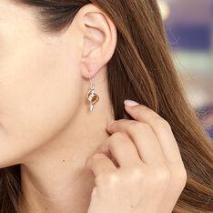 Boucles D'oreilles Pendantes Hilarionne Argent Blanc Ambre - Boucles d'oreilles Pendantes Femme   Marc Orian