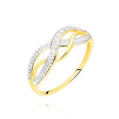 Bague Vaguelette Or Jaune Diamant - Bagues Femme | Marc Orian