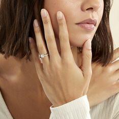 Bague Solitaire Essie Argent Blanc Oxyde De Zirconium - Bagues Solitaire Femme   Marc Orian