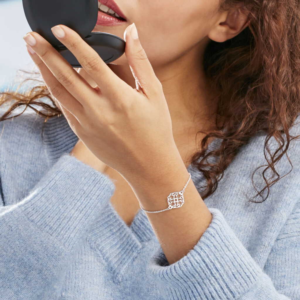 Bracelet Lev Argent Blanc - Bracelets chaînes Femme   Marc Orian