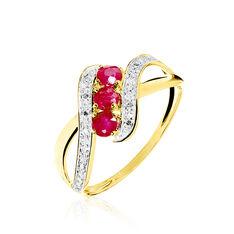 Bague Simma Or Jaune Diamant Et Rubis - Bagues Femme | Marc Orian