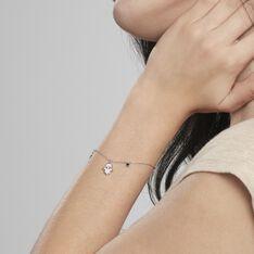 Bracelet Argent Rhodie Basten Oxydes De Zirconium - Bracelets chaînes Femme | Marc Orian