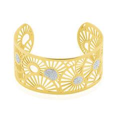 Bracelet Jonc Imagine Florette Strass Acier Jaune Strass - Bracelets Femme | Marc Orian