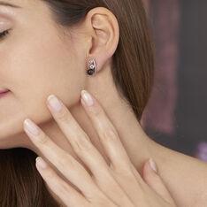 Bijoux D'oreilles Cleya Argent Blanc Céramique - Boucles d'oreilles Ear cuffs Femme | Marc Orian