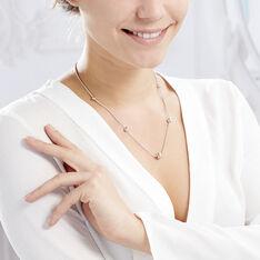 Collier Catarina Argent Blanc - Sautoirs Femme | Marc Orian