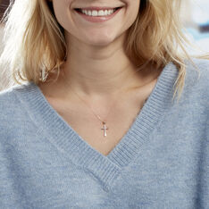 Collier Canice Croix Or Jaune Diamant - Colliers Femme | Marc Orian