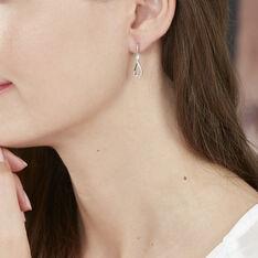 Boucles D'oreilles Pendantes Vanessa Or Blanc Diamant - Boucles d'oreilles Pendantes Femme   Marc Orian