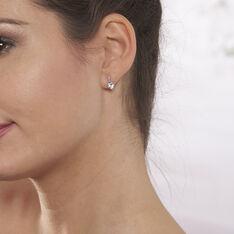 Boucles D'oreilles Pendantes Clothilde Or Blanc Topaze Et Diamant - Boucles d'oreilles Pendantes Femme   Marc Orian