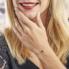 Bracelet Or Blanc Maveline Topaze - Bracelets chaînes Femme   Marc Orian