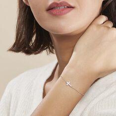 Bracelet Carlie Argent Blanc Oxyde De Zirconium - Bracelets chaînes Femme   Marc Orian