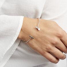 Jonc Argent Blanc  Tullia - Bracelets fantaisie Femme | Marc Orian