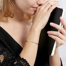 Bracelet Jonc Danae Argent Blanc Oxyde De Zirconium - Bracelets fantaisie Femme   Marc Orian