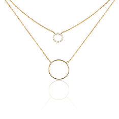 Collier Marina Plaque Or Cercles - Colliers Femme | Marc Orian