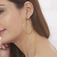 Créoles Djoe Flexible Rondes Or Jaune - Boucles d'oreilles Créoles Femme | Marc Orian