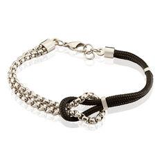 Bracelet Acier Cordon Chaine Nœud Marin - Bracelets cordons Homme | Marc Orian