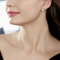 Boucles D'oreilles Puces Zoelle Argent Blanc Nacre - Clous d'oreilles Femme | Marc Orian