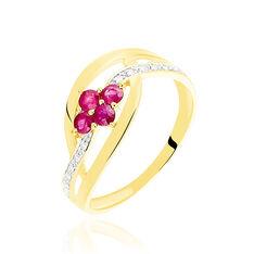 Bague Hoela Or Jaune Diamant Et Rubis - Bagues Femme | Marc Orian