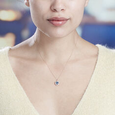 Collier Adryene Or Rose Oxyde De Zirconium Topaze - Colliers Femme | Marc Orian