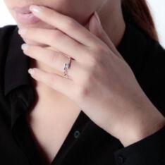 Bague Or Blanc Delphine Diamants - Bagues Solitaire Femme | Marc Orian