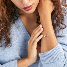 Bracelet Azylis Argent Blanc Oxyde De Zirconium - Bracelets chaînes Femme | Marc Orian
