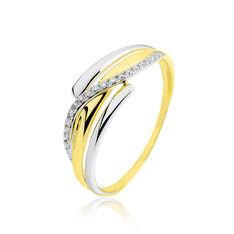 Bague Bodil Or Bicolore Diamant - Bagues Femme | Marc Orian