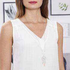 Collier Sautoir Misalie Argent Blanc - Sautoirs Femme | Marc Orian