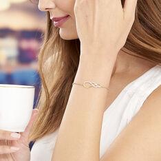 Bracelet Rajah Plaque Or Jaune Oxyde De Zirconium - Bracelets chaînes Femme | Marc Orian